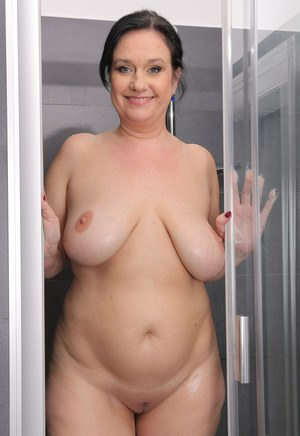 Mature Nude Shower