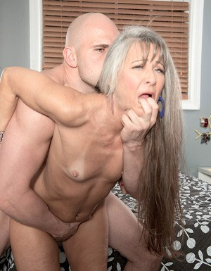 I was fucked by his leg at this moment i make him blowjob with cum on tits 3