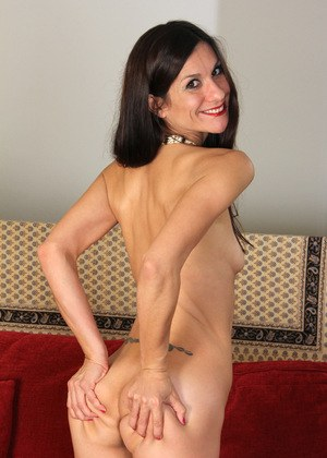 Skinny naked matures
