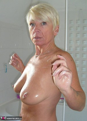 Nude mature shower